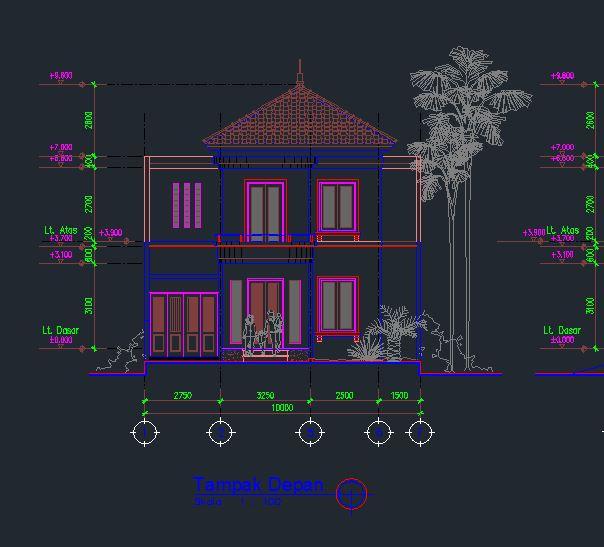 Cad Drawing Rumah Tinggal 20x10m Rekayasa Struktur